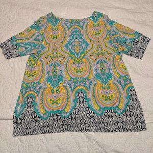 Bright patterned Charter Club blouse